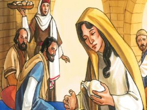 Mary washes Jesus feet